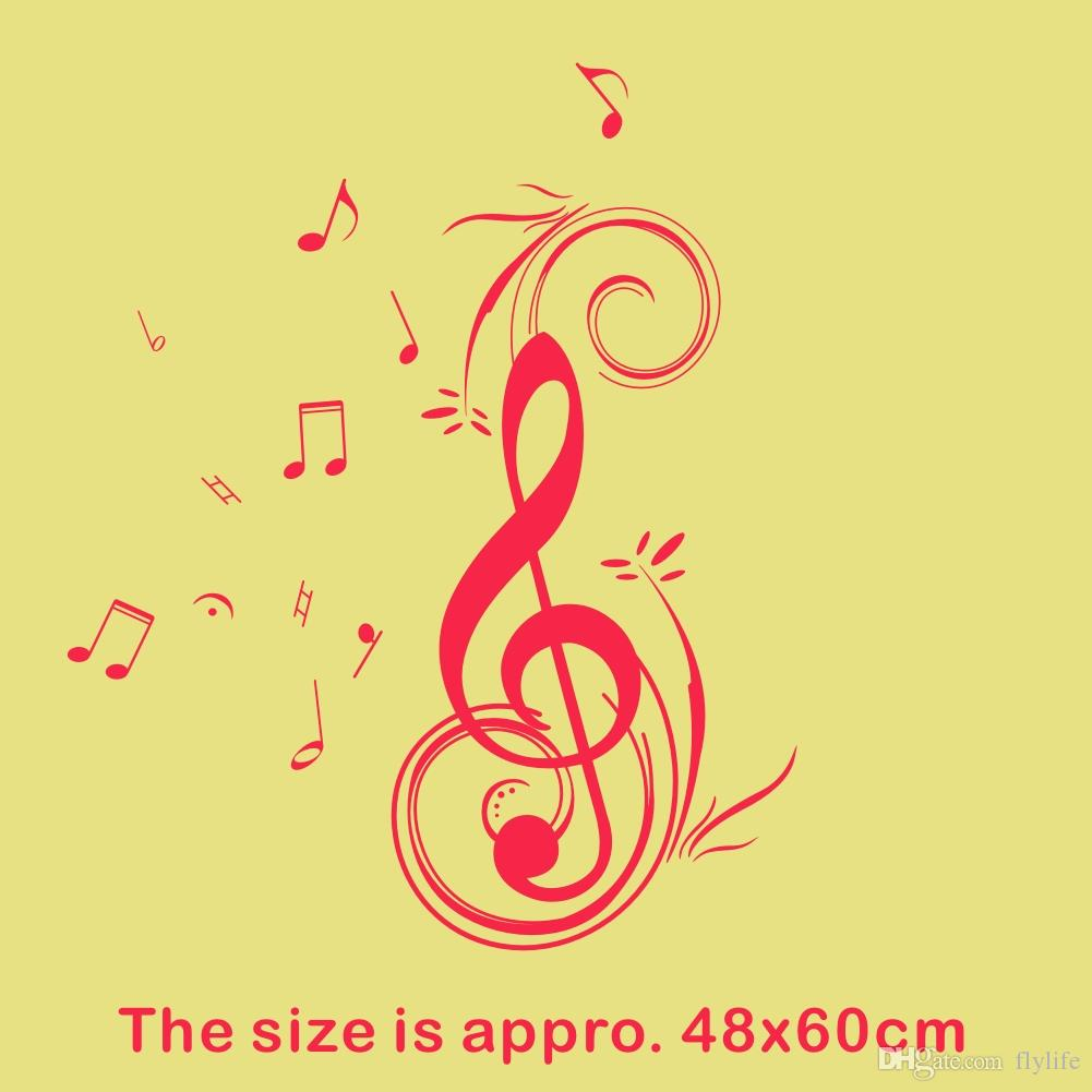 Dancing Music Note Wall sticker waterproof and removable vinyl for home decoration Wall Art