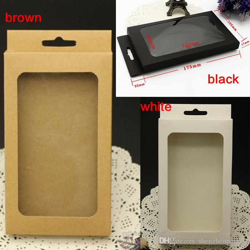 universal Plain Kraft Brown Paper Retail Package Box boxes for phone case cover htc blackbarry sony for mobile phone and smart phone