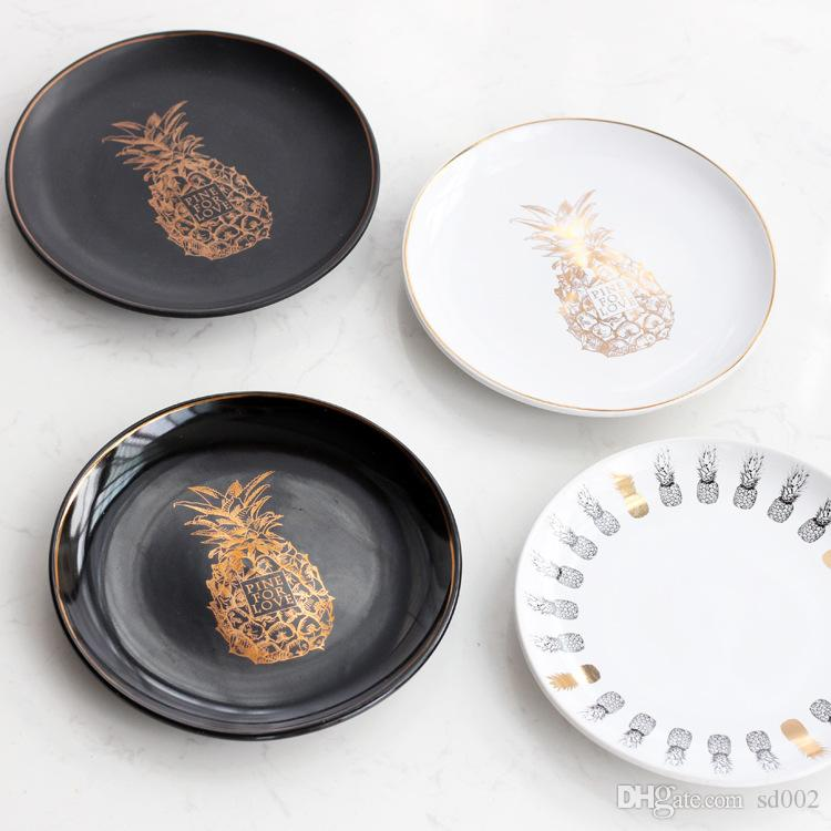 2018 Ceramic Pineapple Dinner Plates Round Food Fruit Salad Noodle Dishes For Home Decor Kitchen Accessories Top Quality 13qj Cb From Sd002 5 03 Dhgate