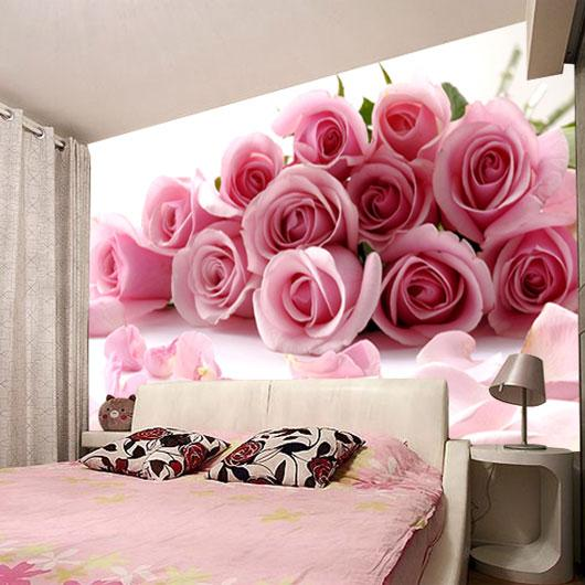 New Photo Love Waterproof Modern Fashion Office Living Room Bedroom Wedding  Room Pink Red Roses Customized Art Mural 3d Wallpaper Home Decor Desktop ... Part 95