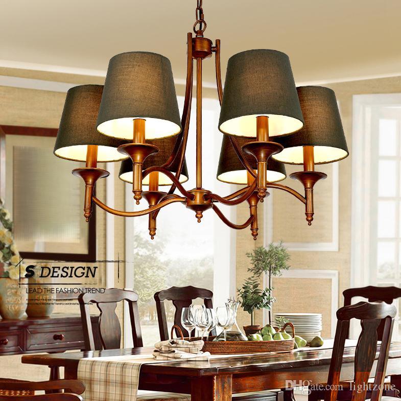 American Rustic Style Iron Chandelier Northen European