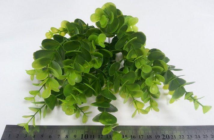 Artificial Shrubs, Faux Plastic Eucalyptus Leaves Bushes Fake Simulation Greenery Plants Indoor Outside Home Garden Office Verandah Wedding
