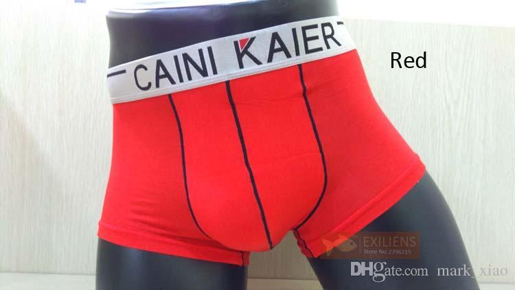 [EXILIENS] Hot Unterwäsche Herren Shorts Boxer Sexy Modal Elastizität Atmungsaktiv Solide Männlich Marke Mann Unterhose GAY Red Größe M-XXL