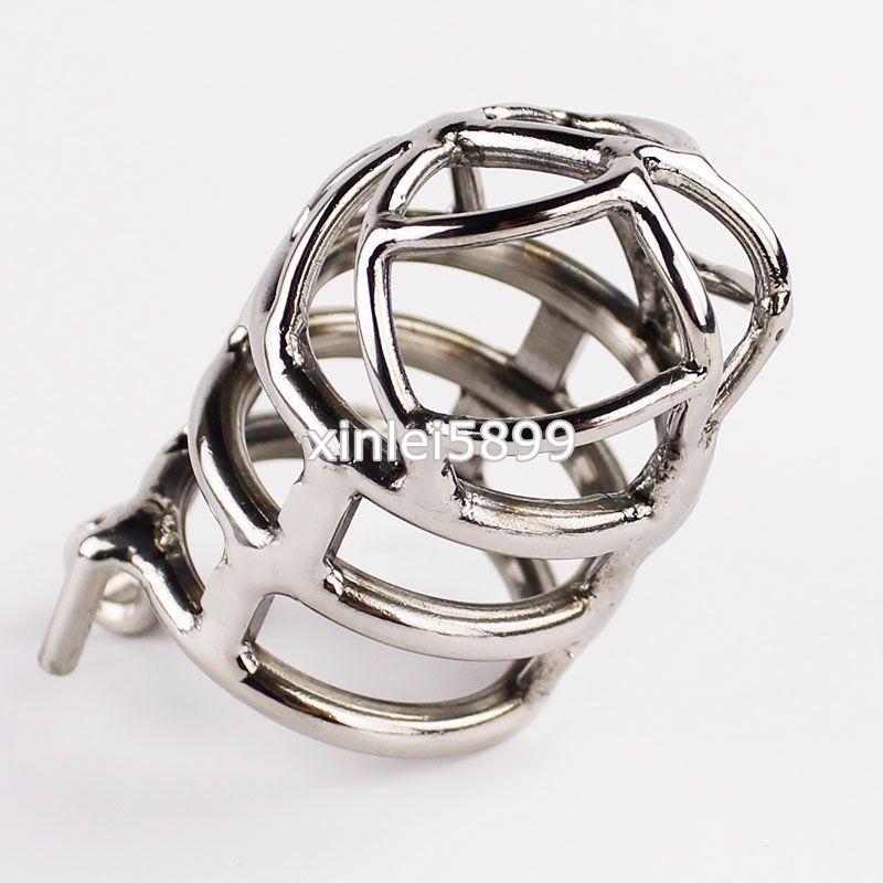 Gabbia di castità dal design unico Dispositivo anti-castità maschile in acciaio inossidabile con versione anti off 3.26
