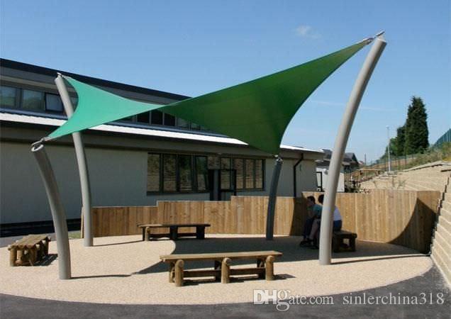 hdpe triangle sun shade sail 118ft x 118ftx118ft car parking from dhgatecom - Sun Shade Sail