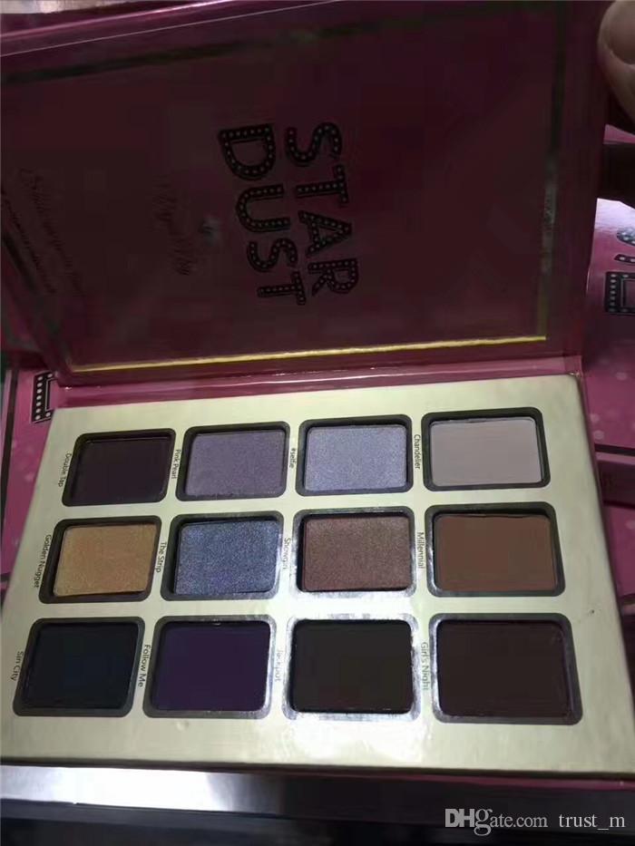 Barra de chocolate Sombra de ojos Star dust 12 Eye Shadow Palette POR VEGAS NAY artículo caliente recién llegado Envío gratis