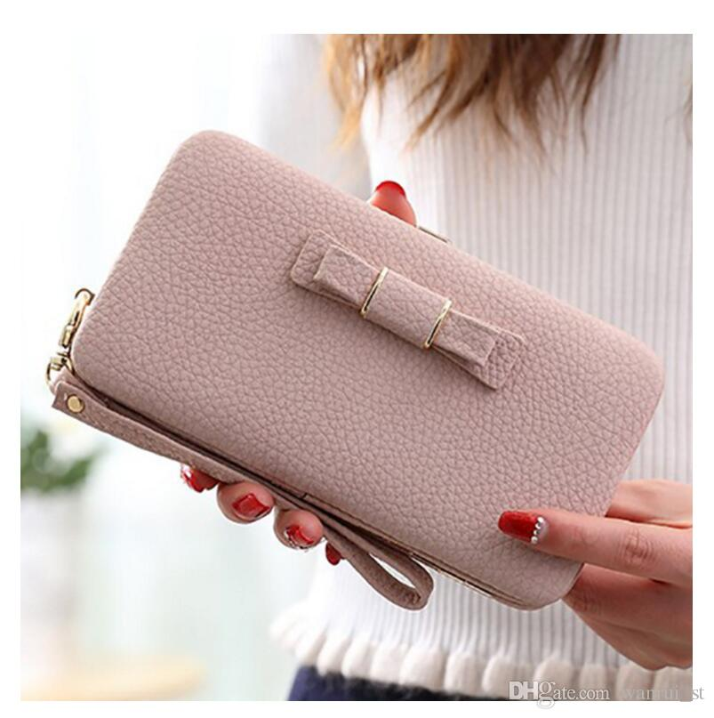 New Arrival New Women Wallets Leather Credit Card Holder For Women & Girls Wallets Purse Purses Clutch Wallets Purse Bags CELL Phone Box