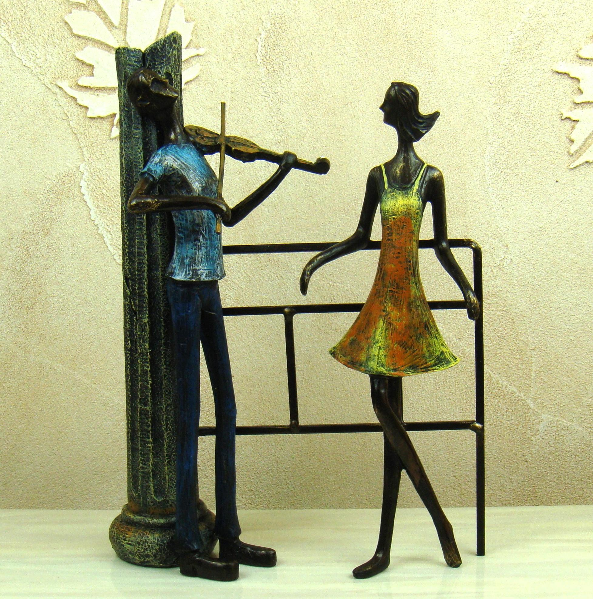 2018 Retro Wrought Iron Art Proposal Lovers Figurine Abstractive ...