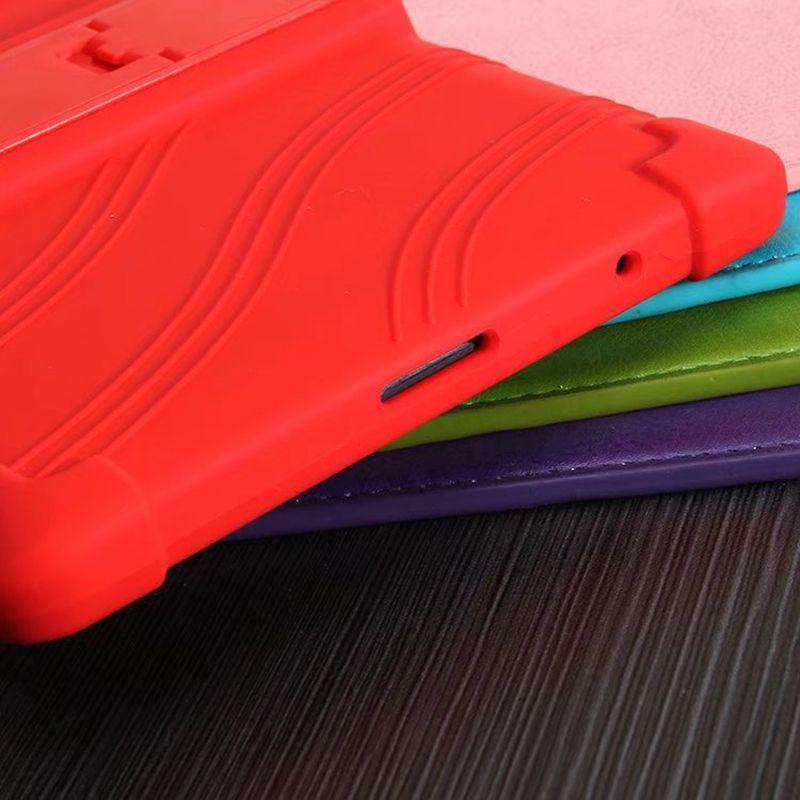 Soft Silicon TPU Back Cover with Stand for Lenovo Tab 3 Tab3 8 Plus P8 TB-8703 TB-8703F TB-8703X TB-8703N 8