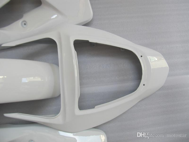 Injection mold ABS plastic fairings for Kawasaki ninja ZX6R 03 04 white fairing set zx6r 2003 2004 OT33