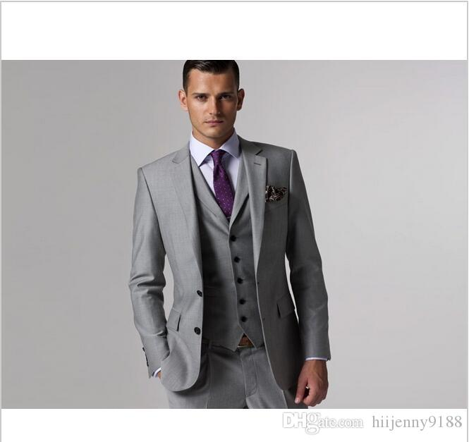 Gray Tux Wedding