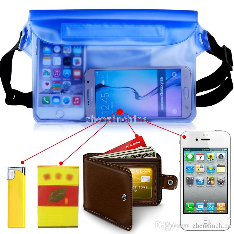 Universal Waist Pack Custodia impermeabile Custodia a prova di acqua Custodia subacquea a secco cellulare Cellulare Samsung iphone money