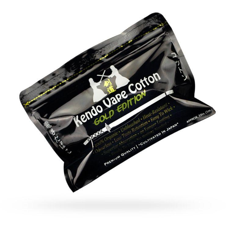 Original Kendo Vape Cotton Gold Edition Japanese Organic Cotton Pads For RDA RBA Atomizer Vaporizer DIY Coil Wire PK Koh Gen DO DHL