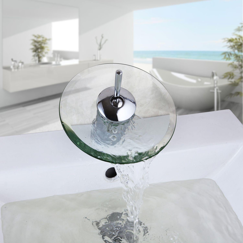 Waterfall bathroom sink - See Larger Image