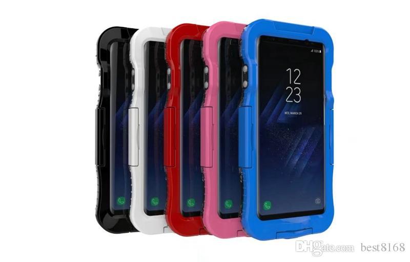 Custodia subacquea subacquea 5M Iphone X 8 7 Plus 6 6S Galaxy Note 8 Custodia impermeabile S8 acrilico Trasparente corpo completo Custodia antiurto Custodia Cover pelle
