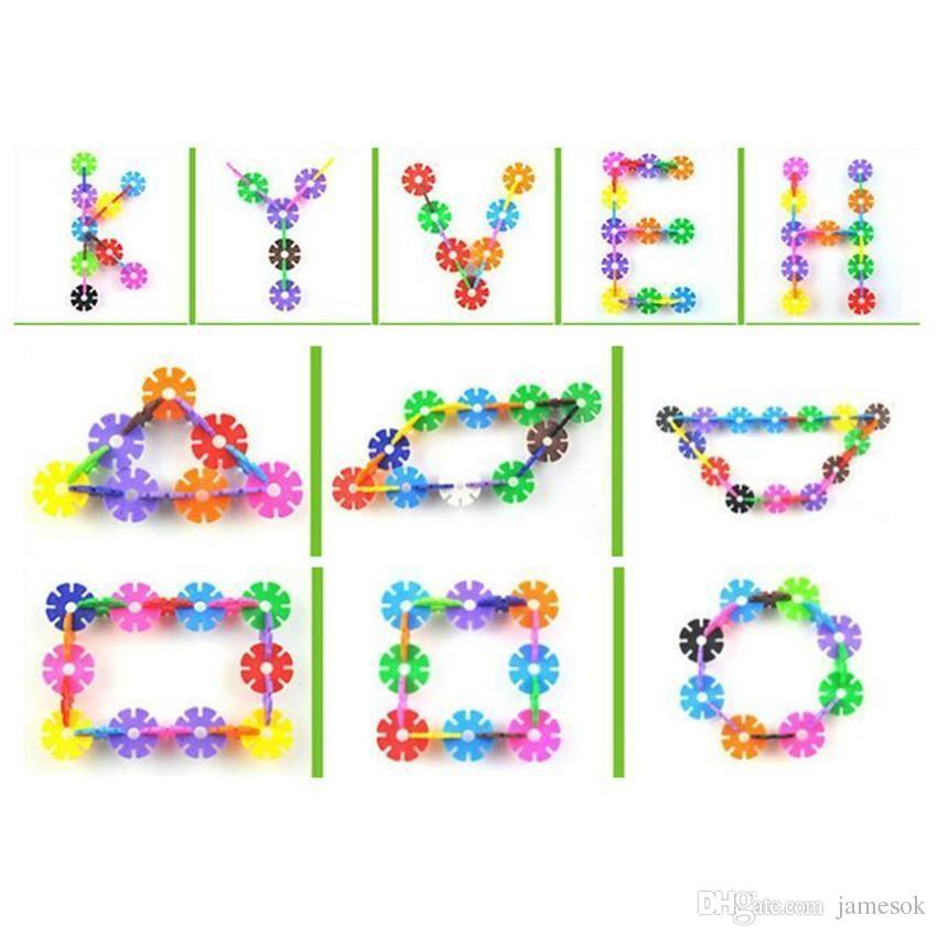 3D Puzzle Kunststoff Schneeflocke Bausteine Modell Puzzle Lernspielzeug Für Kinder c009