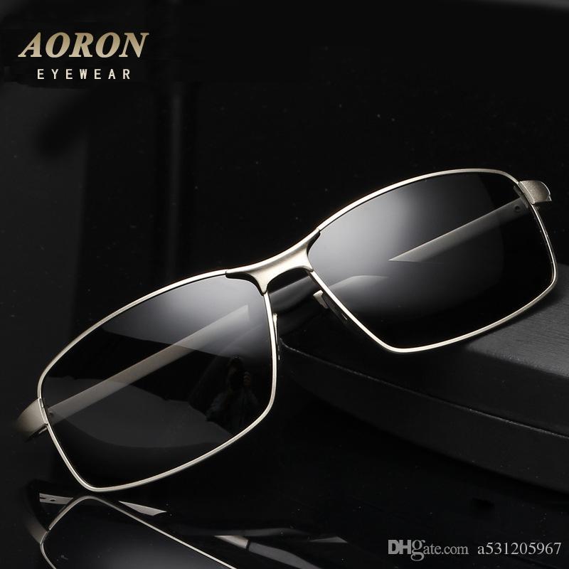 4b9e2eba0f Compre Aoron Hombres Gafas De Sol Polarizadas Conductor Gafas De Sol De  Conducción De Vidrio Gafas De Sol Accesorios De Moda Para Hombre A $8.65  Del ...