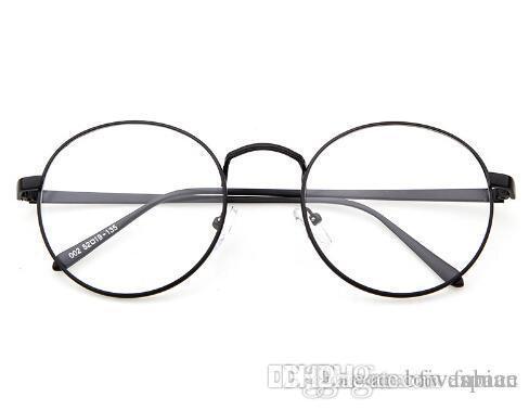 caae33b4526 Korean Glasses Frame Retro Full Rim Gold Eyeglass Frame Vintage Spectacles  Round Computer Glasses Unisex NO Degrees Cheap Frames Glasses Choosing  Eyeglass ...