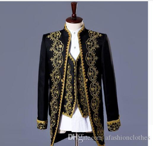 8a9b2bc698 2019 Men Suits Designs Royal Loading Stage Costumes For Singers Men Blazer  Clothes Jacket Formal Dress Punk European White Black From Afashionclothes