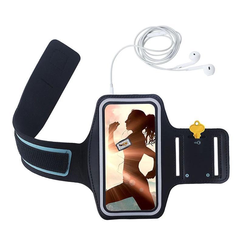 Brazaletes del teléfono móvil para iPhone 8 Plus Gym Running Brazalete deportivo para iPhone 6plus 6S plus 7 Plus Brazalete ajustable para iPhone X