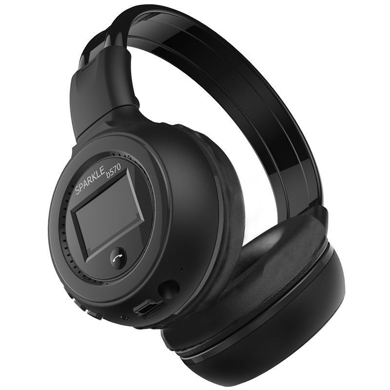 Foldable Wireless Bluetooth Headphone HiFi Stereo headband Headsets Earphone With LCD Screen FM Radio Micro-SD Slot For MP3 iPhone Samsung