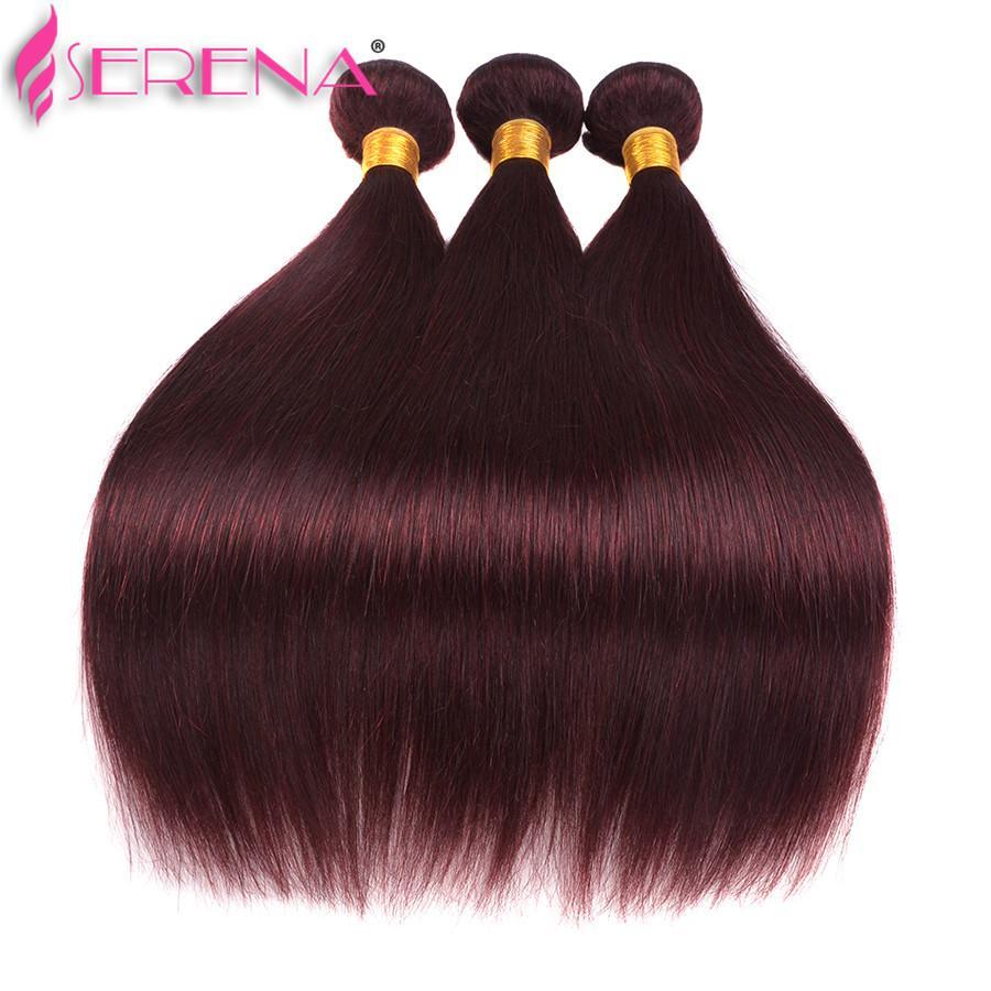 뜨거운 판매 처리되지 않은 99j 스트레이트 브라질 버진 머리 클로저와 # 99J 인간의 머리 3 번들 레이스 클로저와 함께 많은 빨간 머리카락