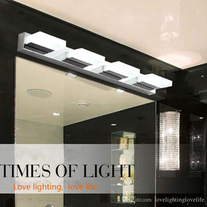 Compre Cuarto De Baño Moderno Estilo Simple Rectángulo LED Espejo De Pared  Lámpara De Luz Lámpara Frontal Impermeable Ac90 260v Accesorios De  Iluminación ... 3077e2e5b964