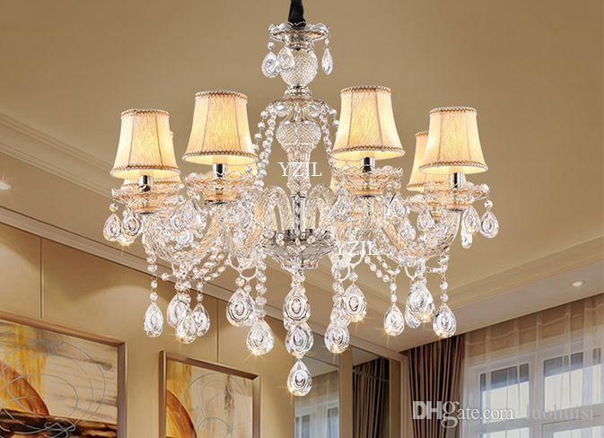 European chandelier crystal light lamps American duplex bedroom living room modern luxury restaurant atmosphere lighting