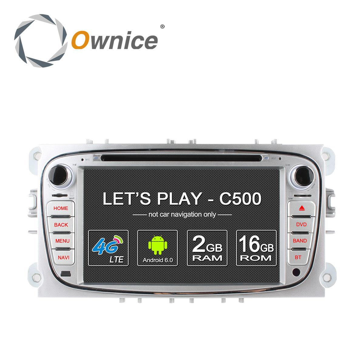 Ownice C500 4g Lte Android 6.0 Quad Octa Core 2 Din Car Dvd Player ...