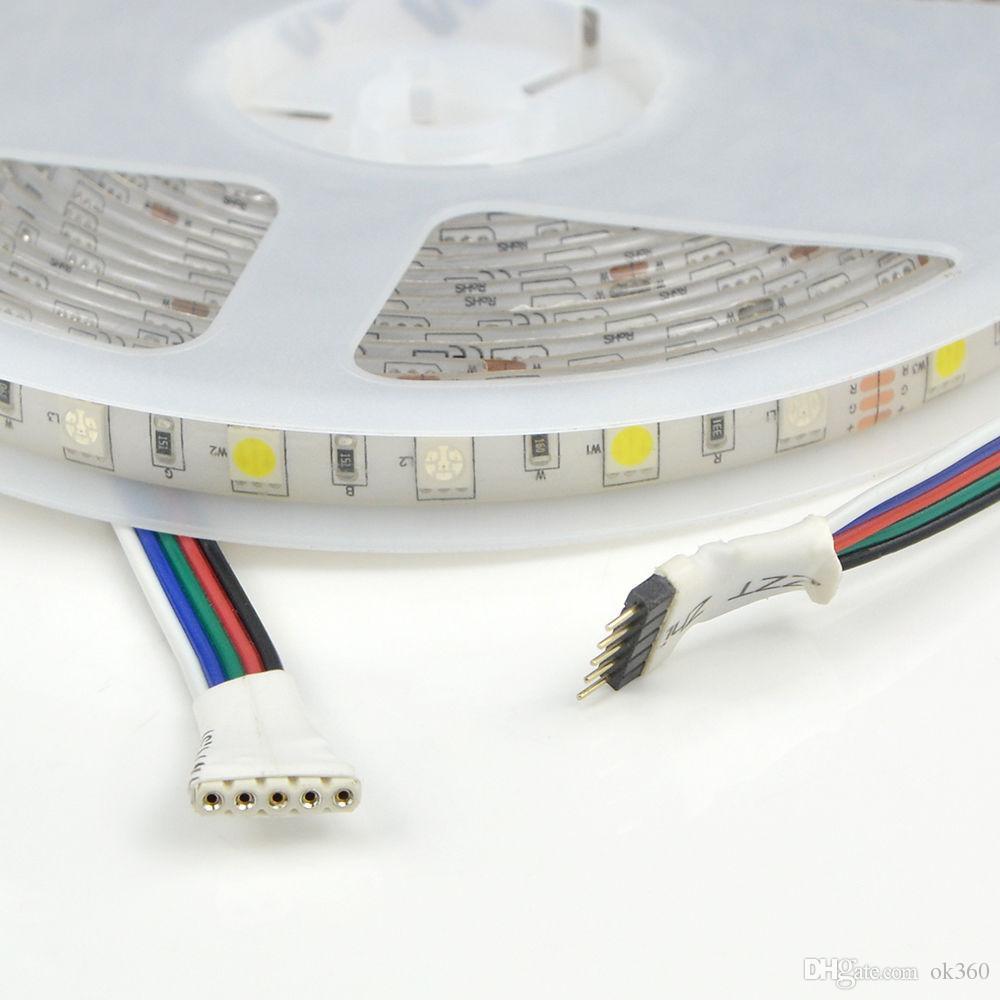 5M 300led 5050 SMD RGBW RGBWW ha condotto la luce a nastro DC12V impermeabilizzano le luci di striscia flessibili principali + 40 chiavi controller IR a infrarossi + adattatore di alimentazione 12V 3A