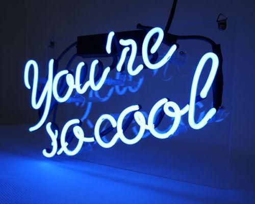 2017 14x9 You\'Re So Cool Glass Tube Neon Light Home Decoration ...