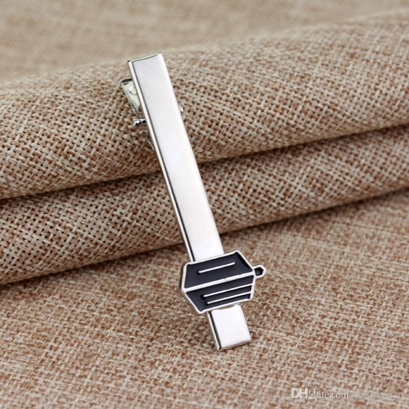 New Fashion Tie Clips Women/Men's Jewelry Tie Clips Doctor Who Black Metal Tie Clips Accessories Movie Jewelry
