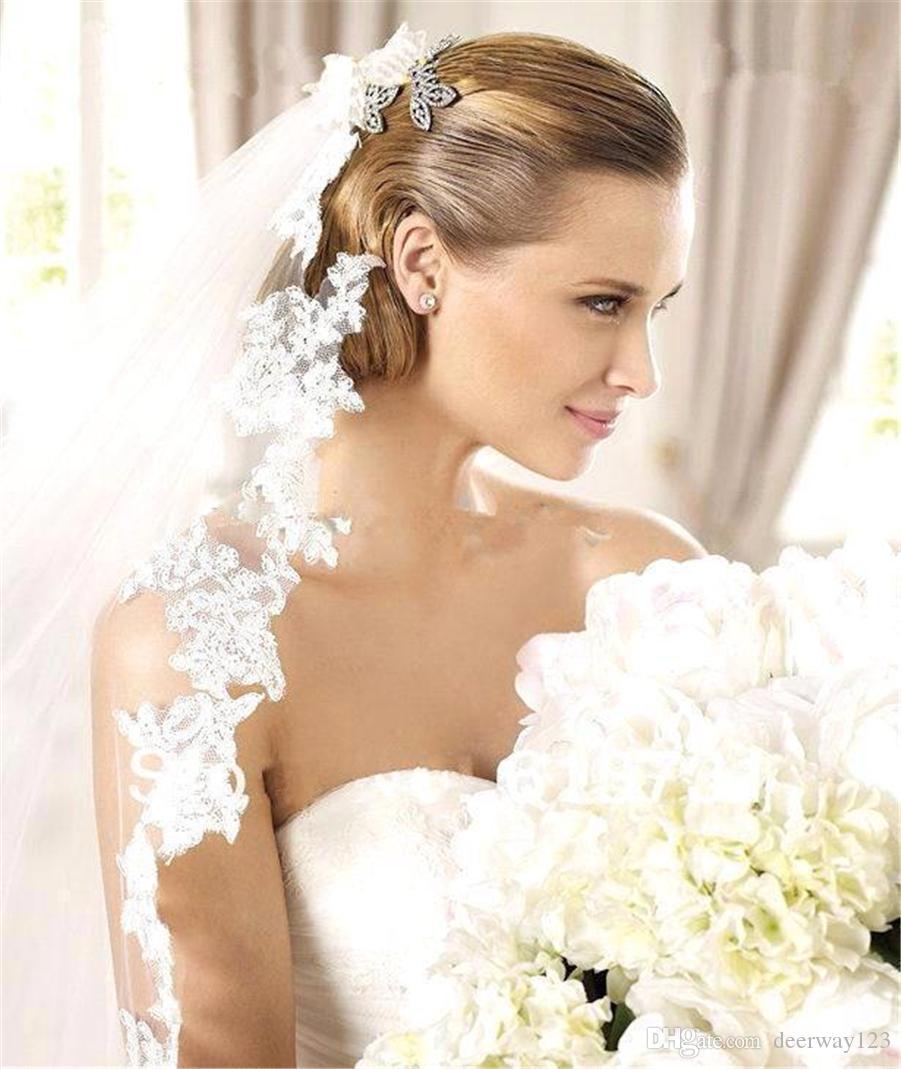 Velo da sposa bianco 3m Pettine lungo in pizzo Mantilla Cattedrale Velo da sposa Accessori da sposa Veu De Noiva