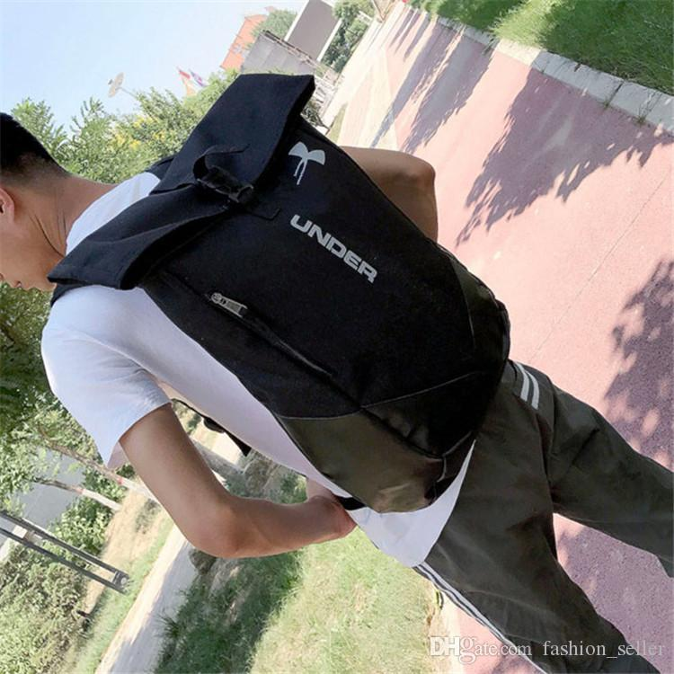 Fashion U & A Teenager Bag Men & Women's Backpack Casual Camping Adult Backpacks Waterproof Travel Outdoor Bags Black Fast Shipping