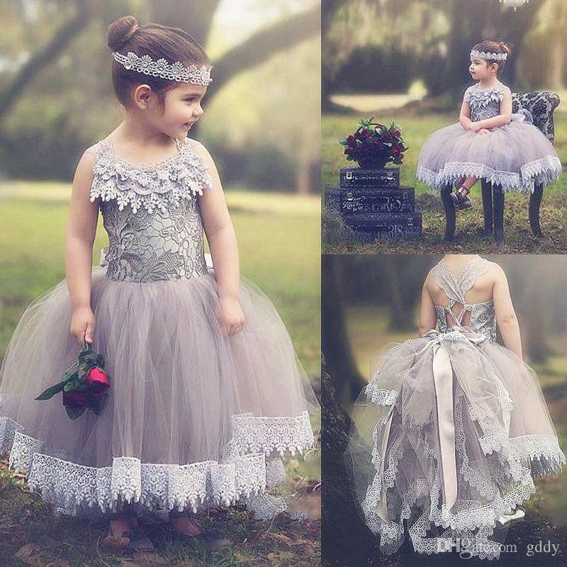 51ad544c01df Blush Toddler Flower Girl Dress French Lace And Silk Tulle Dress For Baby Girl  Blush Princess Dress Custom Holy Communion Dresses 2017 Ball Gowns  Bridesmaid ...