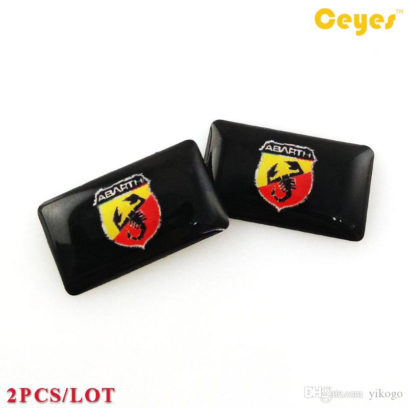Personalized Sticker Abarth Logo Badge Car Plastic Drop Sticker for Fiat 500 Abarth Car Exterior Accessories Styling