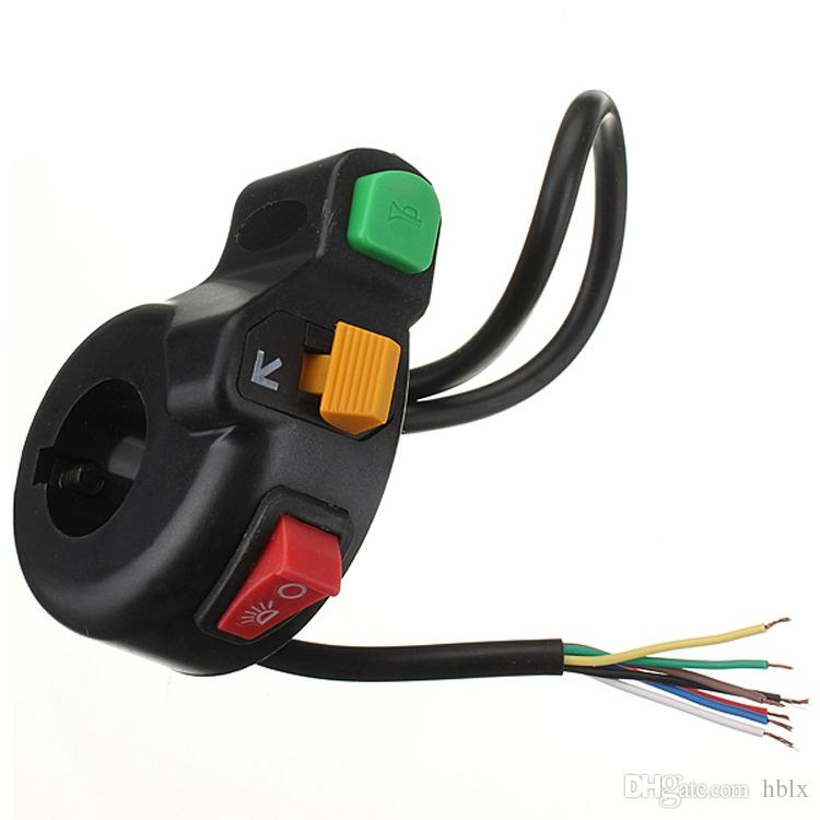 3in1 Motorcycle Pit Bike ATV Horn Turn Signal Light Switch AUP_20C