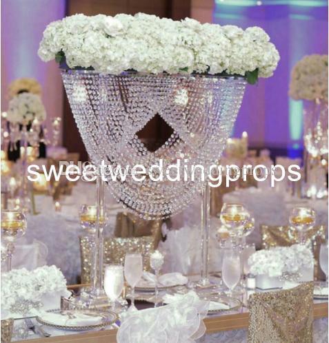 Yeni stil lüks Yapay çiçek aranjmanı düğün masa centerpieces standı, çiçek aranjmanı için olay yetiştiricilerinin
