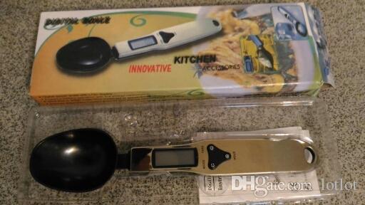 Balance de cuisine 300g / 500g 0,1g Cuillère de cuisine électronique numérique Poids échelle Mesure LCD
