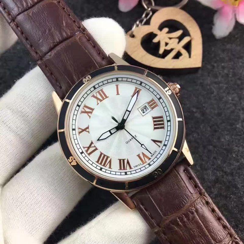 Модные мужские часы с кожаным ремешком мужские кварцевые часы класса люкс relogio masculino мужские часы подарок