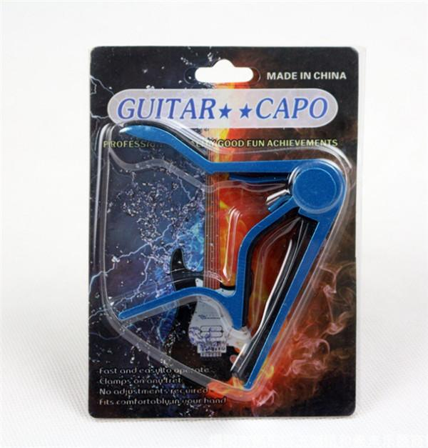 일렉트릭 어쿠스틱 기타 카포 저음 바이올린 우쿨렐레 카포 한 손으로 조율 된 죔쇠