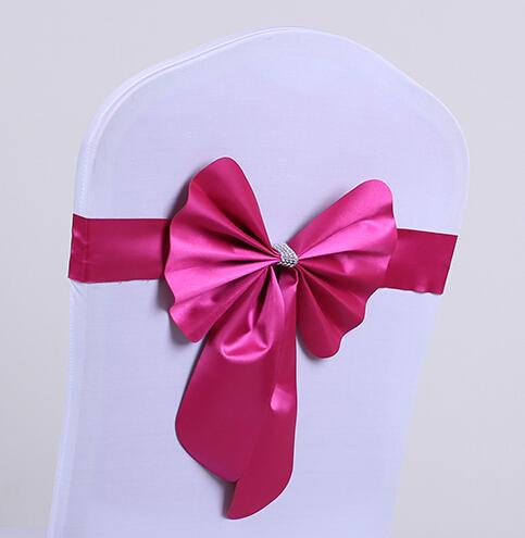 Free EMS Short Ribbon No need to Tie the Knot Wedding Chair Cover Sashes Sash Party Banquet Decoration Bow