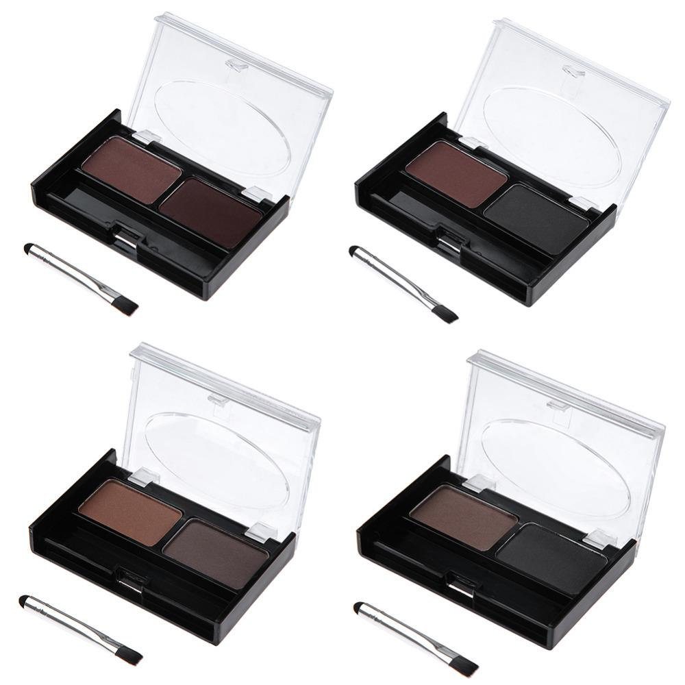 2019 Latest Design Professional Kit 3 Color Eyebrow Powder Shadow Palette Enhancer With Ended Brushes Hot Sale New 2018 Beauty & Health