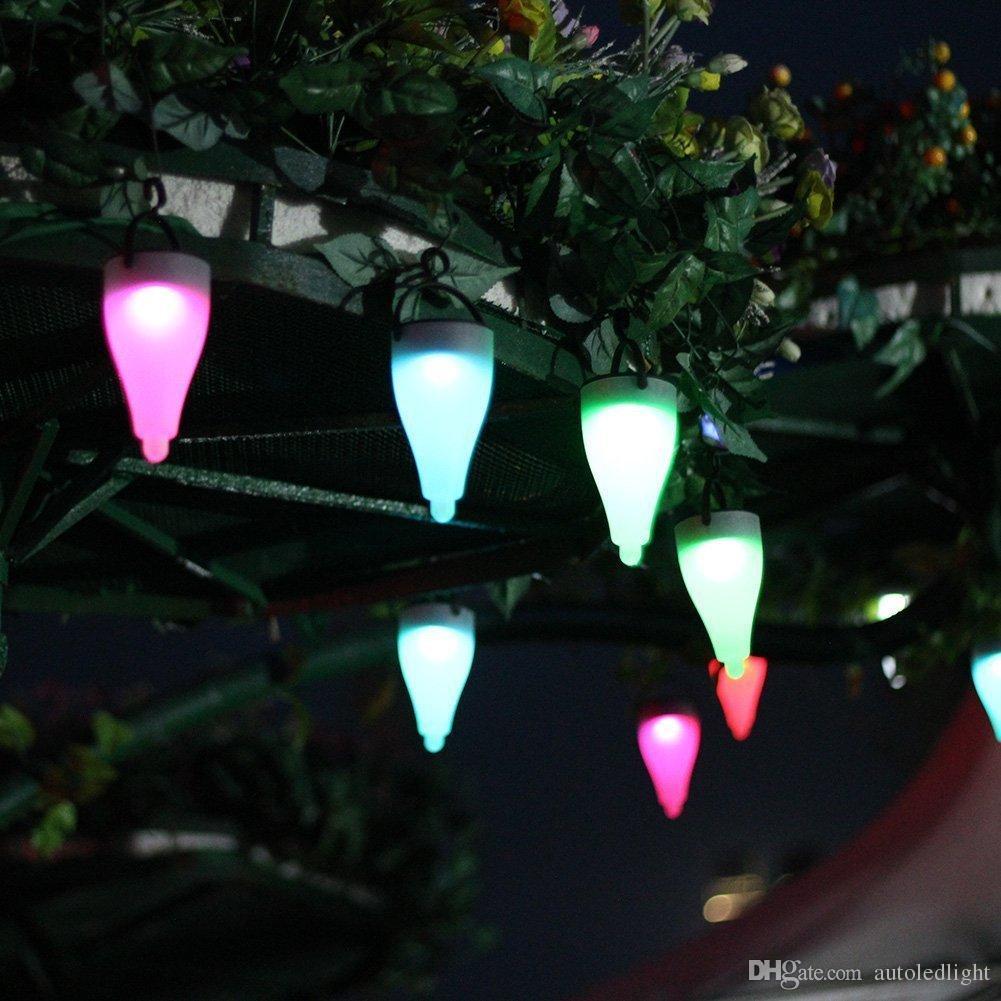 Solar paisagem iluminação para o jardim casa 7 Cor Mudar LED Lawn lâmpada Path Landscape Garden Pathway Luzes de Natal Luzes Decoração