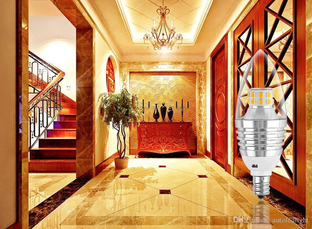 white E12 E27 E14 Flame High Power LED Chandelier Candle Light Filament Bulb Lamp led light