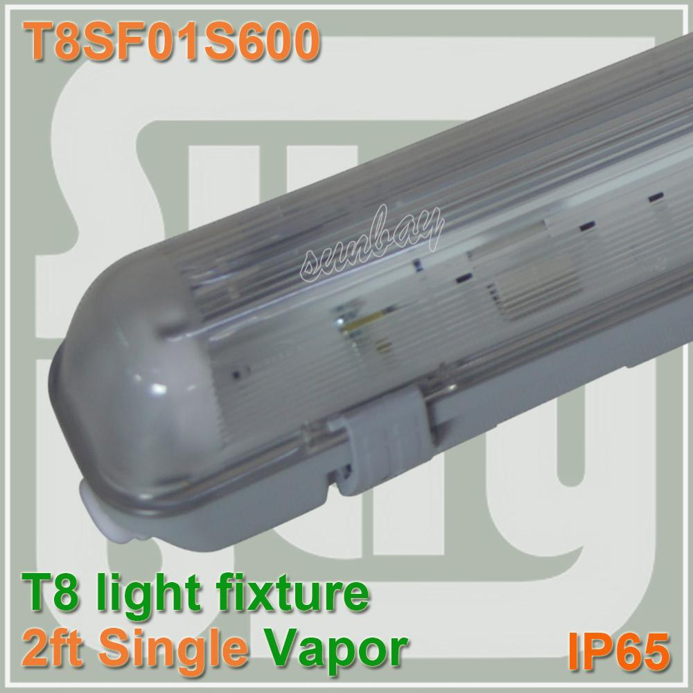 600mm Vapor Tight Lamp 2ft One Bulb T8 Fluorescent Light Fixture ...