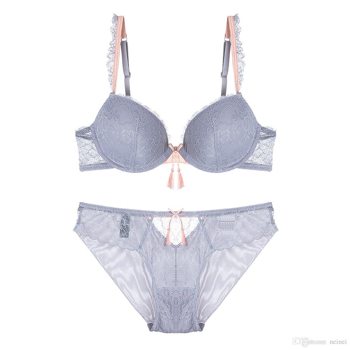 6ba8fa3526af5 New Lace Lingerie Bra Set Women Sexy Bra Set Push Up Bras Romantic ...
