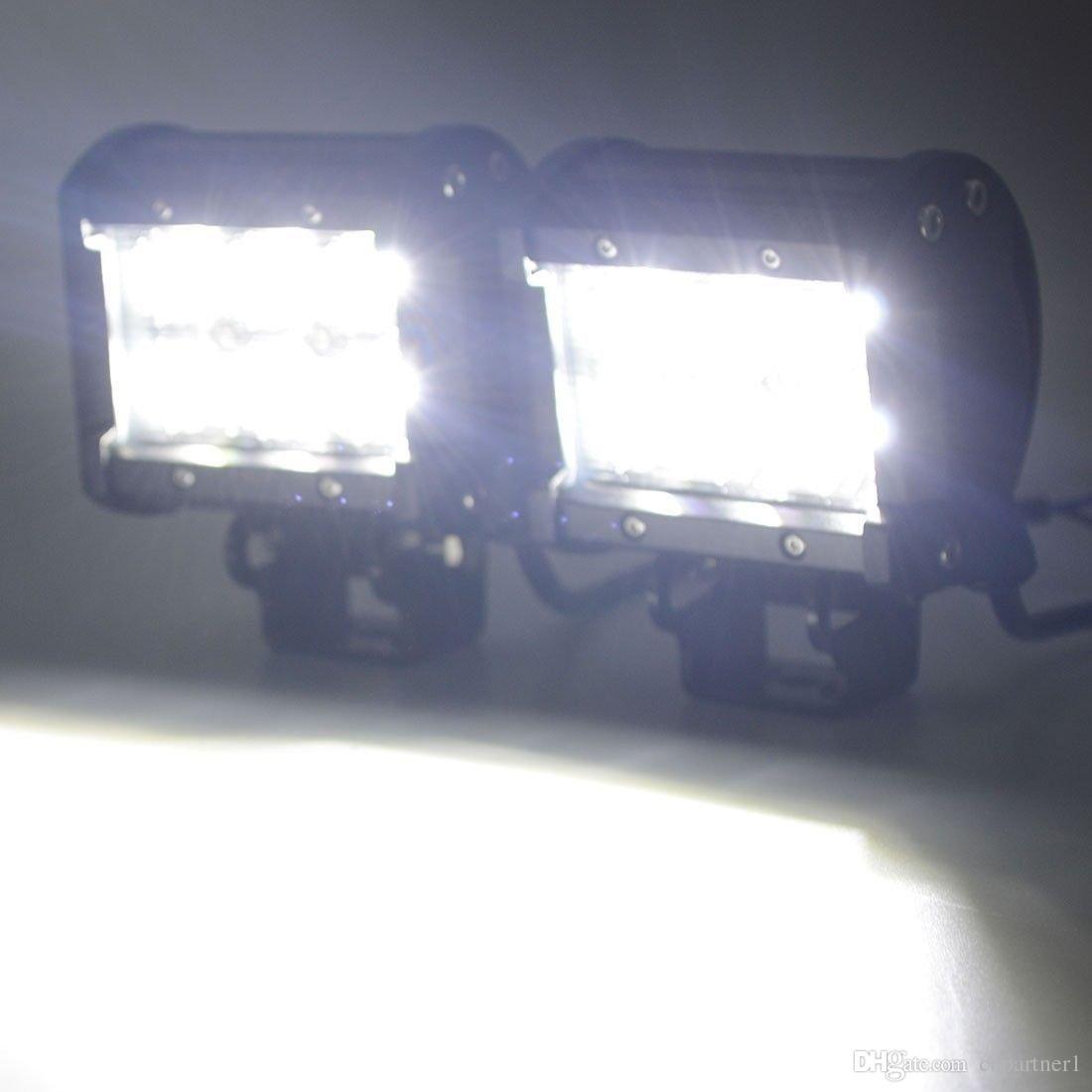 iluminación del coche 4inch 18W 6LEDs LED Barra de luces de trabajo SUV ATV 4WD 4x4 JEEP Punto de inundación fuera de carretera Luz de niebla del camino Luces del punto Lámpara de haz de inundación