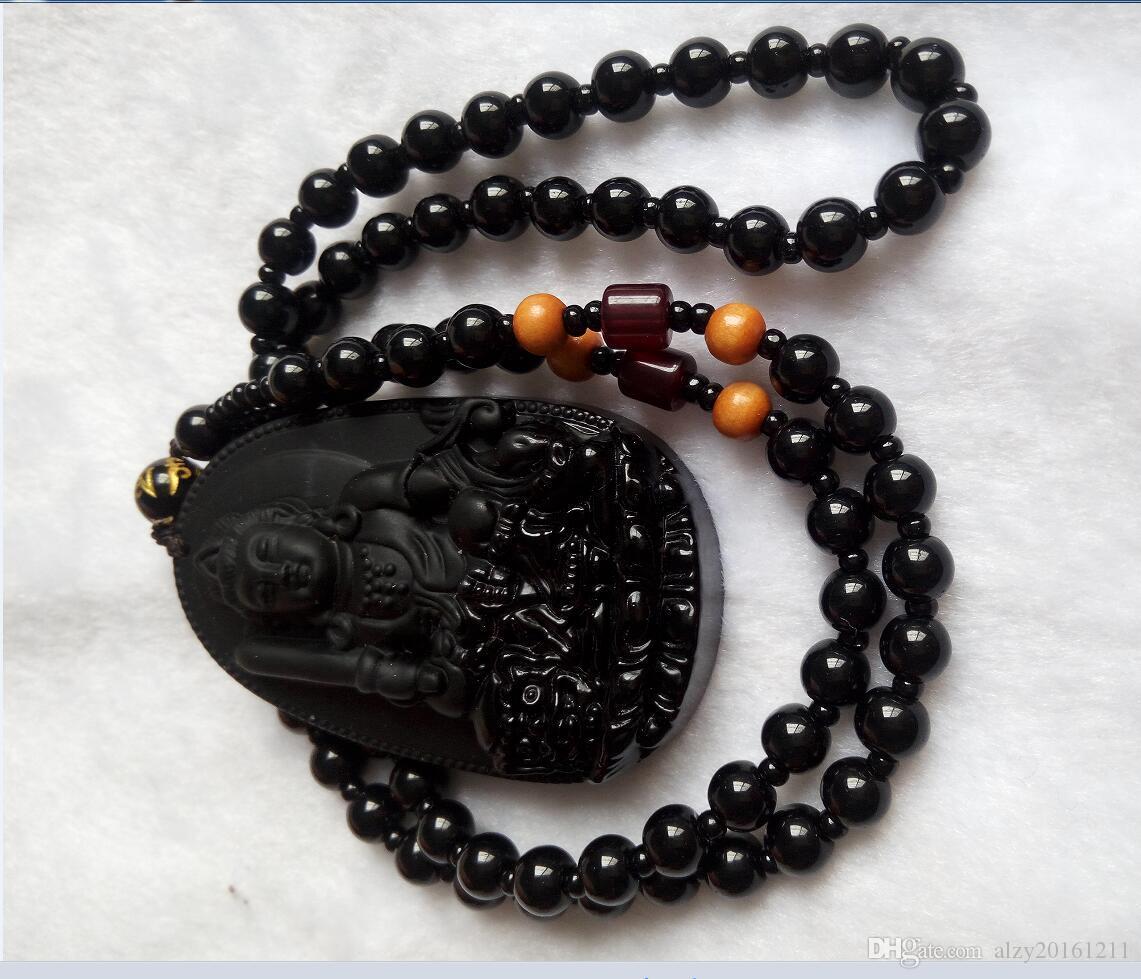 Naturale giada nera ciondolo Buddha jadeite coppia di coppie di giada che vendono uomini e donne B2