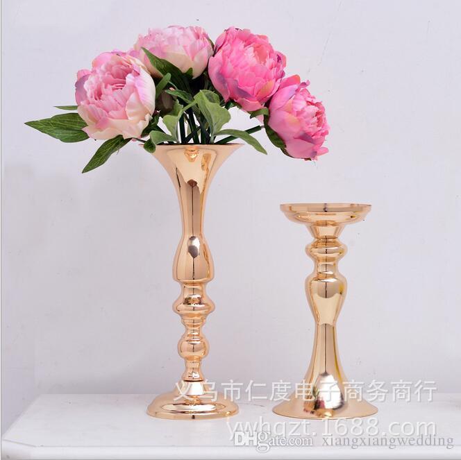 Mariage Bougies Stands Stand 2018 Nouveau Style Art Européen Art De Fer Art De Fleur Décorations De Mariage Gold Argent